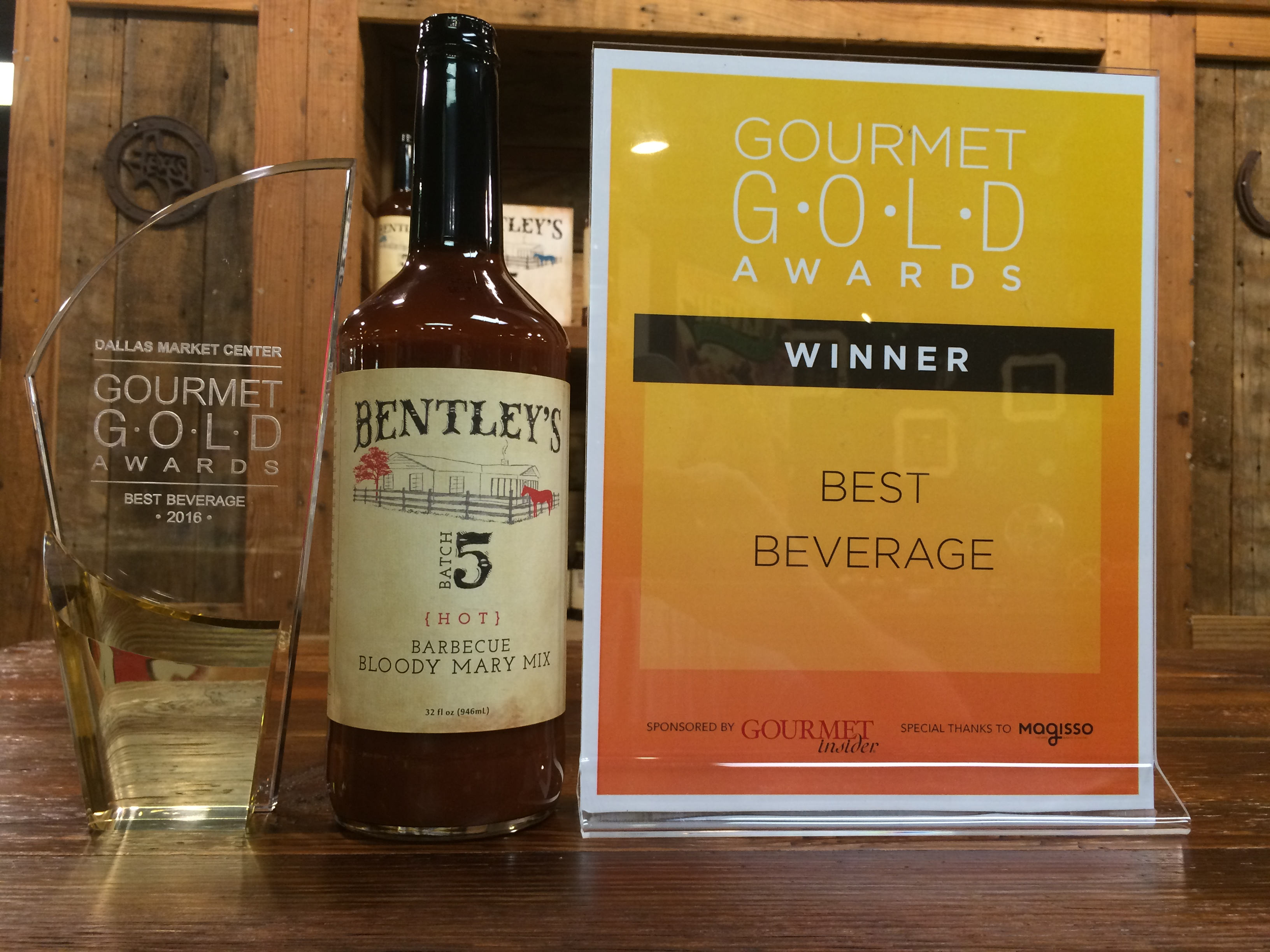 Gourmet Gold Award for Best Beverage