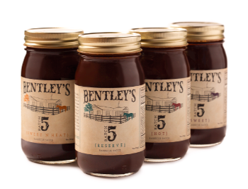 All Four Bentley's Batch 5 Barbecue Sauces